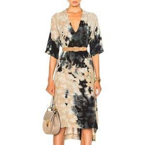 Enza Costa Dresses - Enza Costa short sleeve tie dye v-neck caftan